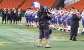 Team Amerika Samoa 2020 JPS Paradise Football Classic V Champions singing the Amerika Samoa Anthem