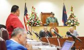 Vice Speaker of the House Fetu Fetui Jr leading the House Session this past week  [photo by AF]