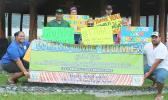 Local members of the group Tagata Tutu Faatasi Alliance of American Samoa