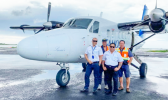 Captain Christian Tooala, Capt Peni Maiava, and Engineers Lafaele Pati and Fiti Amituanai.