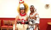 Taupou Mary Leausa Dorleus from Fagali'I and Ma'asina Fagaloa, Upolu Samoa who resides in Hinesville, Georgia, pictured with Ray Robanadakavu from Suva, Fiji.