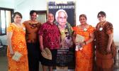Sasa Family members [l-r] Serita Sasa-Marsiglia, Lua Langkilde, LBJ hospital's procurement manager Sinasina Joe Langkilde, Henrietta Sasa-Fata, and Nanavale Sasa-Ta'amu