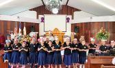 Samoa Baptist Academy students singing