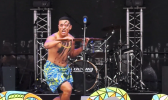 Screen shot of dancer from Wellington Pasifika Festival video