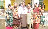 Pastor Kenneth Lelei Fuliese Maisa (middle) with wife Linda and family members