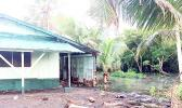 King Tide coming dangerously close to a home in Nuuuli