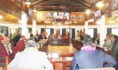 Senators in session