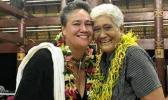 Pacific author Sia Figiel (L) with former teacher, Sister Vitolia Mo'a