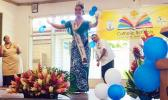 Miss American Samoa Sivas at St. Theresa Elementary School