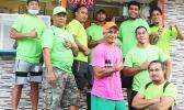 Crew members of StarKist Samoa's Sanitation Department pose for a photo