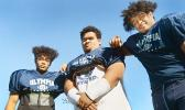 Brothers Max and Keaoni Tuitele (left-right) and cousin Kahalua (center).