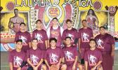 The Tafuna High School basketball team that will be departing the territory this Friday to compete in the St. Francis Holiday Hoop Tournament in Hawai'i next week. Head Coach Valusia Talataina leads the team – they are scheduled to return on the 26 of this month.  [photo: TG]