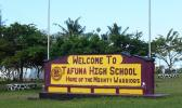 Tafuna High School sign.