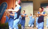 Le Taupou Manaia performing in August of last year.
