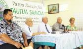 Executive members of the Tautua Samoa Party with party president, Luagalau Dr Woods Salele