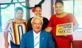 House Speaker Savali Talavou Ale with Seanette Thompson, Sala Godinet and Sianiga Mauigoa.