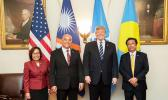President of the Republic of the Marshall Islands Hilda Heine, and President of the Federated States of Micronesia David Panuelo, US President Donal Trump and President of the Republic of Palau Tommy E. Remengesau