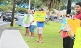 TTFAAS members wave a thank you