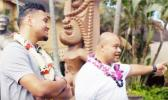 Tua and his dad, Galu