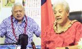 Care taker Prime Minister Tuila'epa Dr. Sa'ilele Malielegaoi and Prime Minister elect Fiame Naomi Mata'afa