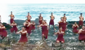 Dancers at Turtle and Shark location in Vaitogi, American Samoa