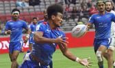 Manu Samoa's Joe Perez lost control of the ball