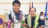 Victor Chen and his teacher Karen Dizon