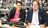 Wayne King, right, with Rima Moeka'a