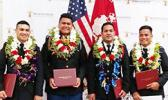 The 7 cadets of Wentworth Military Academy from American Samoa who graduated last Saturday. It was the school's final graduation, school officials announced last month they were shutting own after 137 years of service. Congratulations soldiers and best wishes on your next success!  [photo courtesy]