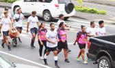 American Samoa rugby teams at their 'wheelbarrow' fundraiser