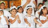 Youngsters celebrating White Sunday in a 2017 Samoa News file photo