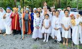 Youngsters at Samoa Baptist Academy dressed in their holiday costumes